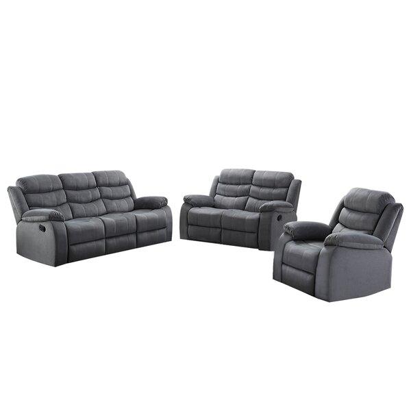 Udel 3 Piece Reclining Living Room Set by Winston Porter Winston Porter