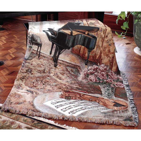 Music Room Tapestry Cotton Throw by Manual Woodworkers & Weavers