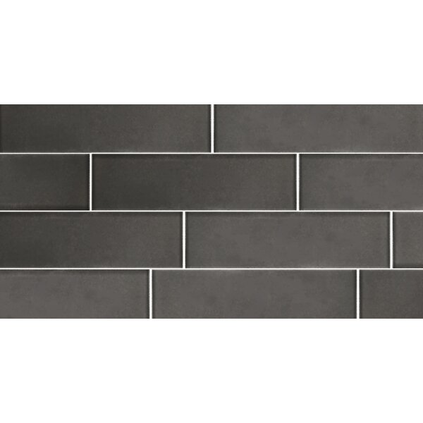 Secret Dimensions 3 x 12 Glass Subway Tile in Frosted Gray by Abolos