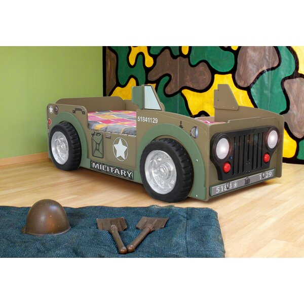 Lang Toddler Car Bed with Mattress by Zoomie Kids