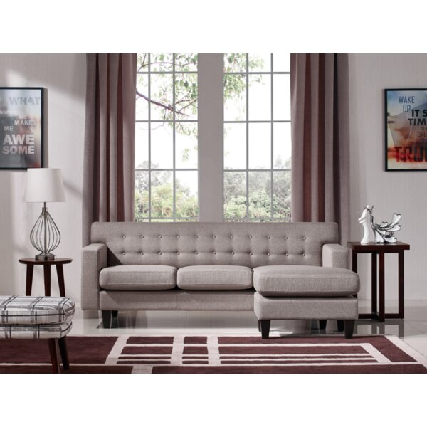 Izabella 83'' Reversible Sectional with Ottoman by Ivy Bronx Ivy Bronx
