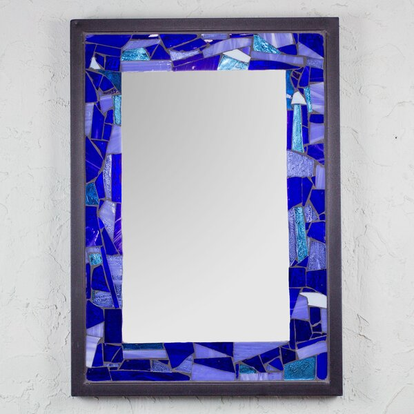 Ocean Stained Glass Wall Mirror by Novica