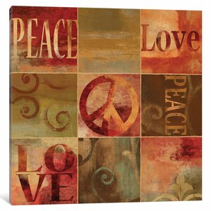 'Peace Sign' Graphic Art Print on Canvas by East Urban Home
