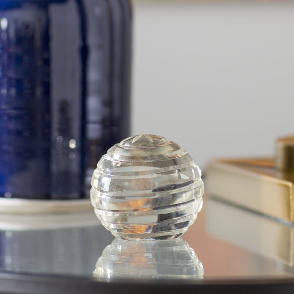 Planetary Clear Glass Ball by Charlton Home