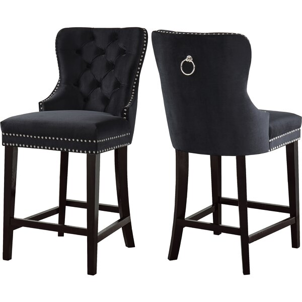 Costigan Velvet 26 Bar Stool (Set of 2) by Darby Home Co