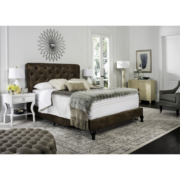 Micky Upholstered Standard Bed by Greyleigh
