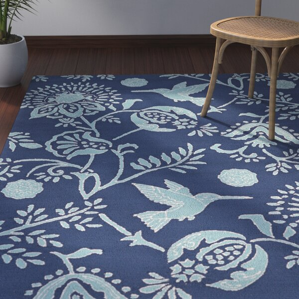 Navarre Handmade Navy Indoor/Outdoor Area Rug by Bay Isle Home