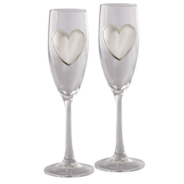 Tillia Glass 1 oz. Champagne Flute (Set of 2) by Rosdorf Park