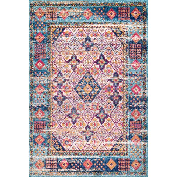 Chad Light Blue Area Rug by Bungalow Rose