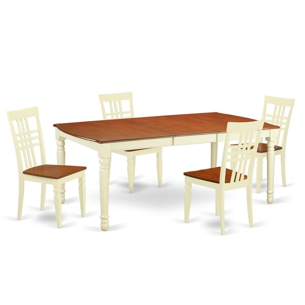 Paraiso 5 Piece Extendable Solid Wood Dining Set by August Grove