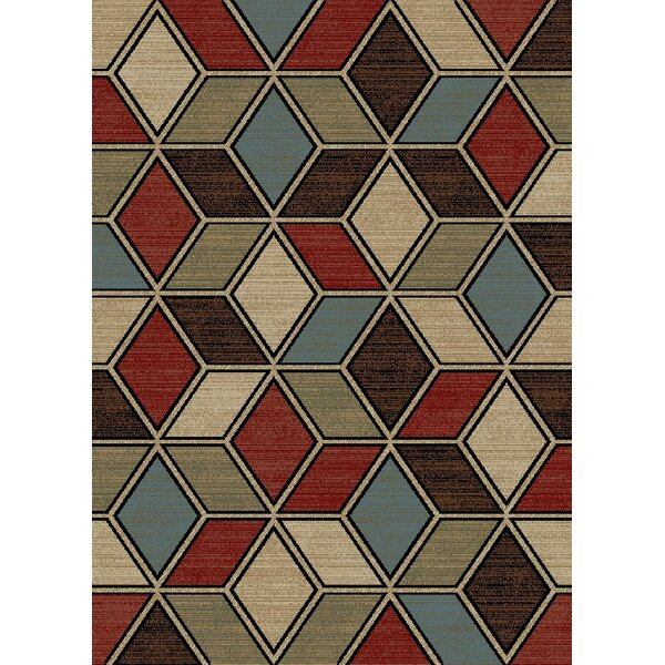 New York Cube Brown Area Rug by Rugs of Dalton