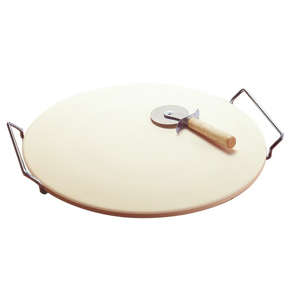 Easy Handle Pizza Grilling Stone By Zingz & Thingz.