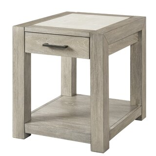 "Kellar Cardiff End Table with Storage 20""W by Gracie Oaks SKU:BD486081 Check Price"