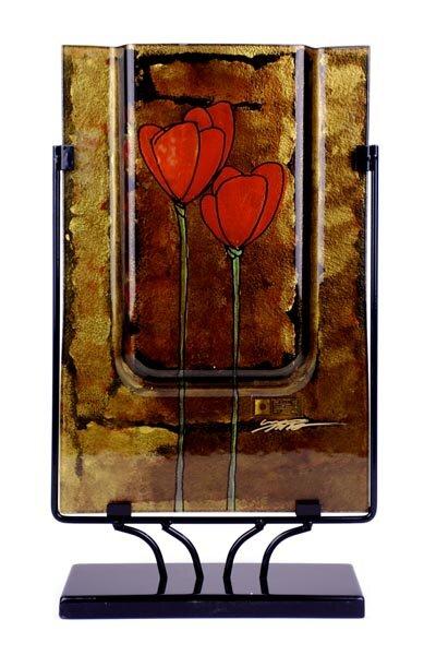 Rectangular Vase by Jasmine Art Glass