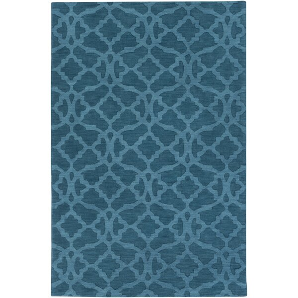 Dylan Hand-Woven Electric Blue Area Rug by Charlton Home