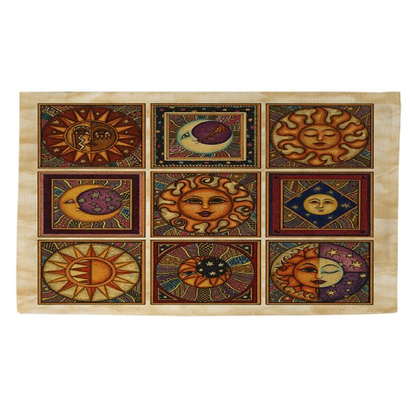 Celestial Squares Brown Area Rug by Manual Woodworkers & Weavers