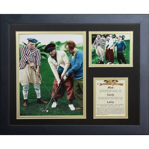 The Three Stooges Golf Framed Photographic Print by Legends Never Die