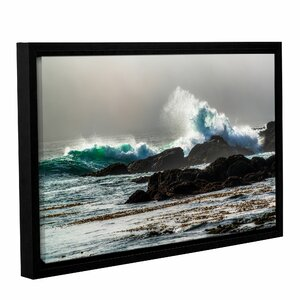 The Wave, Long Beach Framed Photographic Print by Red Barrel Studio