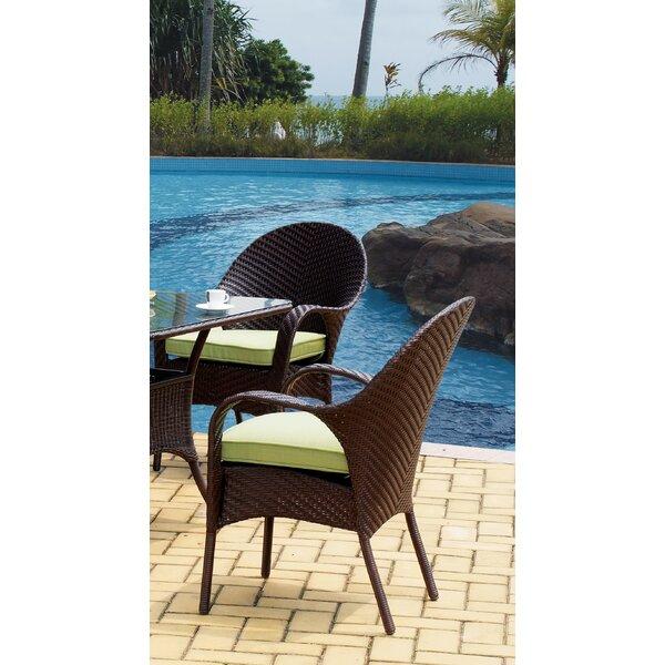 Spooner Bahia Wicker Bistro Table by Bay Isle Home