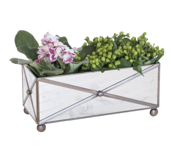 Rectangular Crosshatch Planter Box by Worlds Away