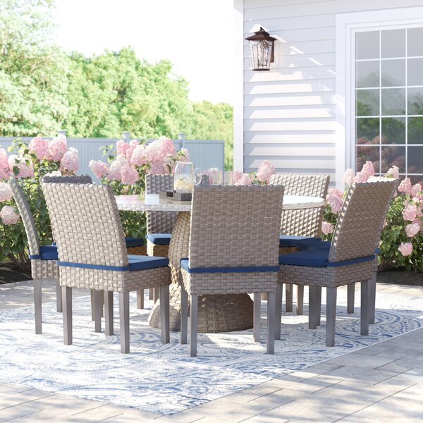 Brennon 9 Piece Dining Set with Cushions by Sol 72 Outdoor