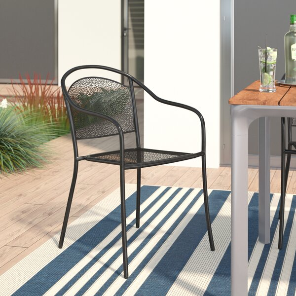 Voyles Stacking Patio Dining Chair by Wrought Studio