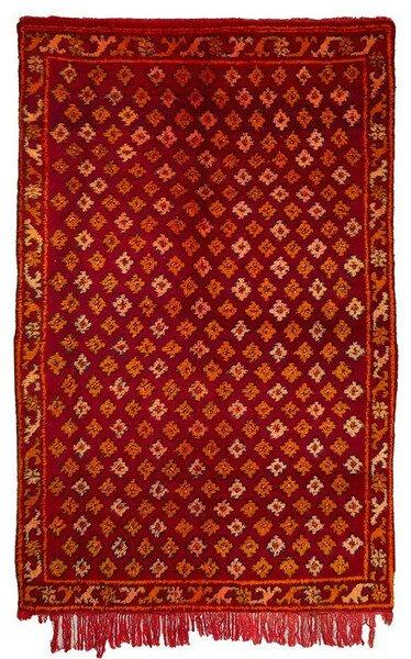 Berber Kilim Hand-Woven Red Area Rug by Casablanca Market
