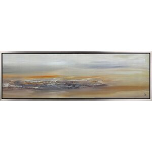 Abstract Landscape II by Sanjay Patel Framed Painting Print on Wrapped Canvas by Hobbitholeco.