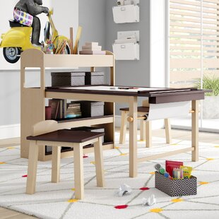 Kids Art Table With Paper Roll Wayfair