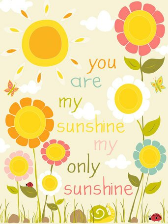Sunshine Flowers Canvas Art by Oopsy Daisy