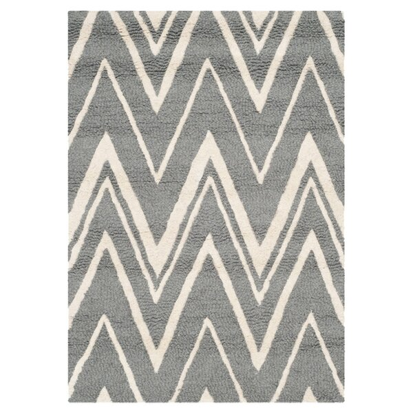Martins Hand-Tufted Wool Gray Area Rug by Wrought Studio