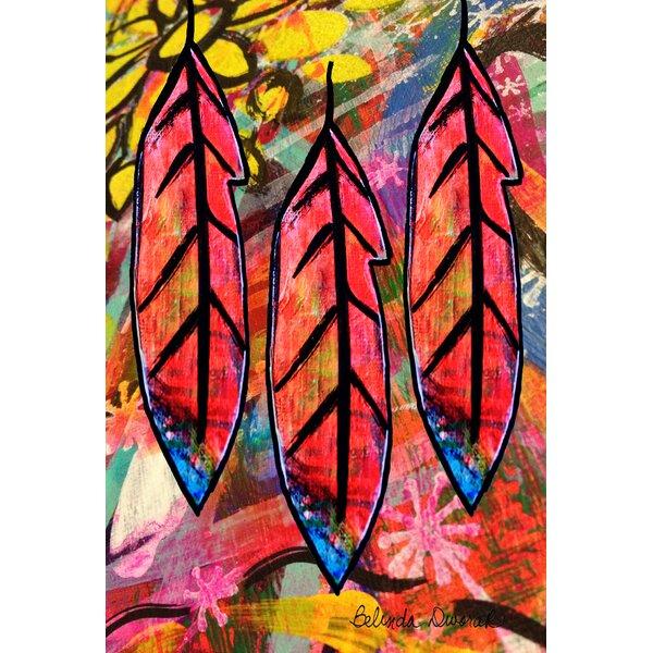Flashy Feathers Garden flag by Toland Home Garden