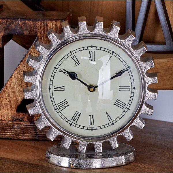 Aluminum Tabletop Clock by Cole & Grey