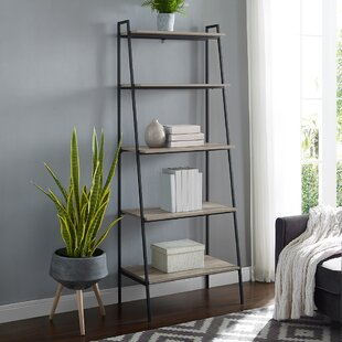 Calhoun Metal and Wood Ladder Bookcase