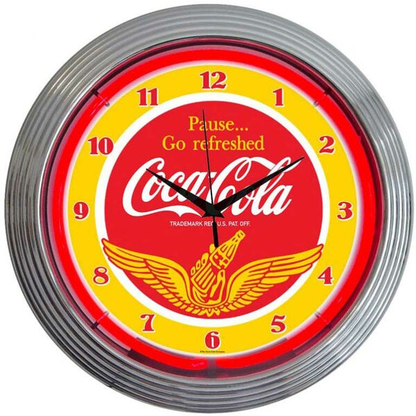 Drinks 15 Coca Cola Wings Wall Clock by Neonetics
