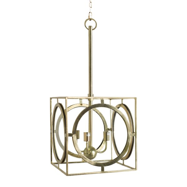 Cheshunt 3-Light Unique / Statement Rectangle / Square Chandelier by Mercer41 Mercer41