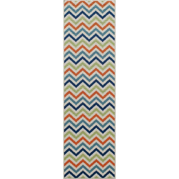 Halliday Green/Blue Indoor/Outdoor Area Rug by Beachcrest Home