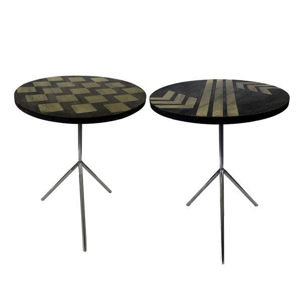 Degnan Contemporary 2 Piece End Table Set By Brayden Studio