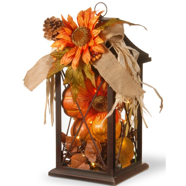 Harvest Arrangement in LED Lamp by The Holiday Ais