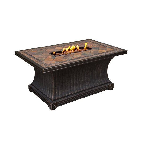 Vienna Aluminum Propane Fire Pit Table by Oakland Living