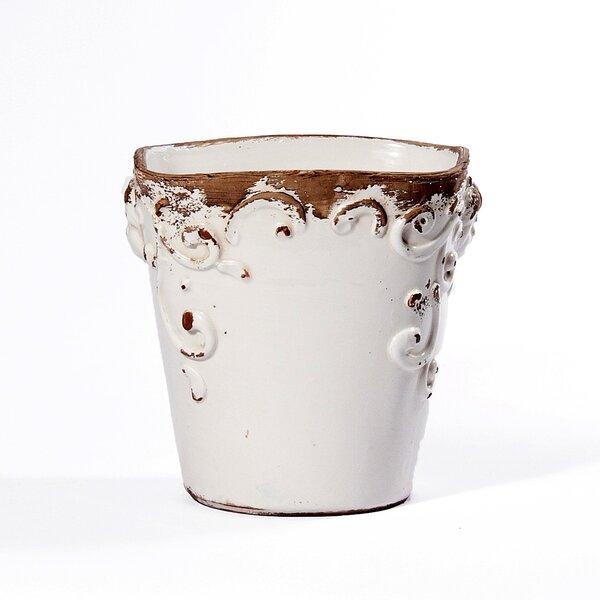 Square Ceramic Pot Planter by Intrada Italy