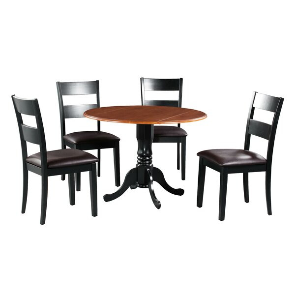 Shorewood 5 Piece Drop Leaf Solid Wood Dining Set By August Grove Best Choices