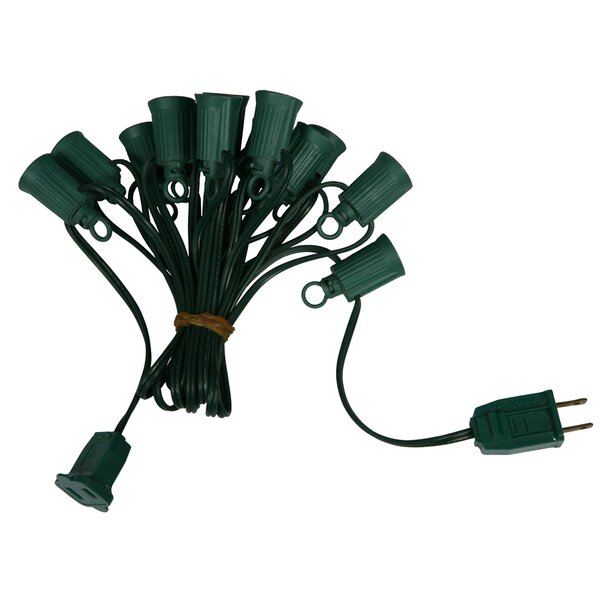 C9 Ec 18ga SPT1 GW 12 Sp Socket String Light by Vickerman