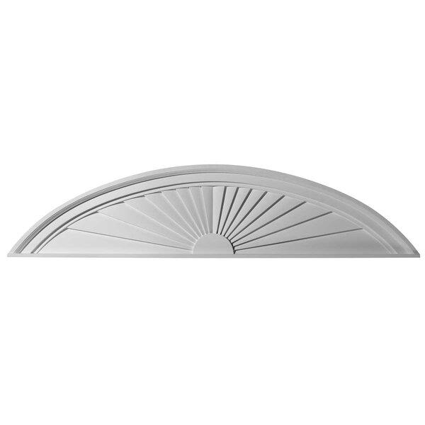 11H x 48W x 2D Half Round Sunburst Pediment by Ekena Millwork