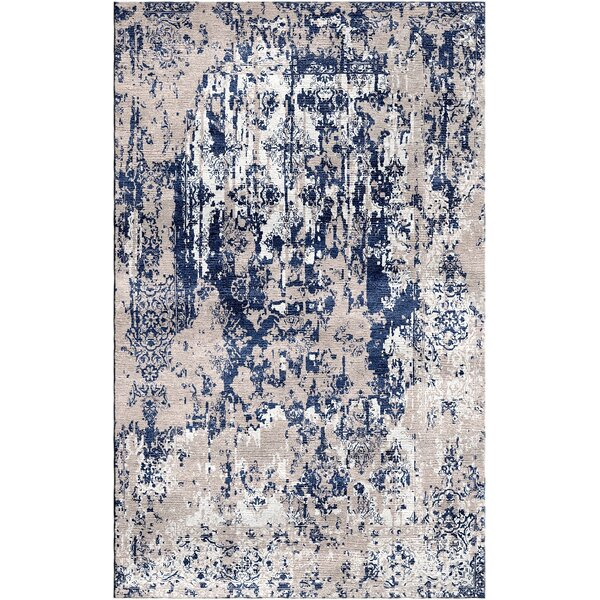 Aliza Handloom Gray/Blue Area Rug by Bungalow Rose