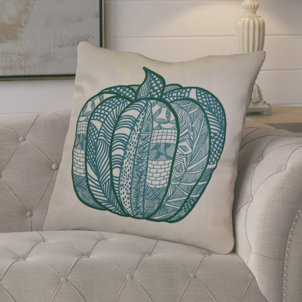 Ames Pumpkin Patch Geometric Euro Pillow by August Grove