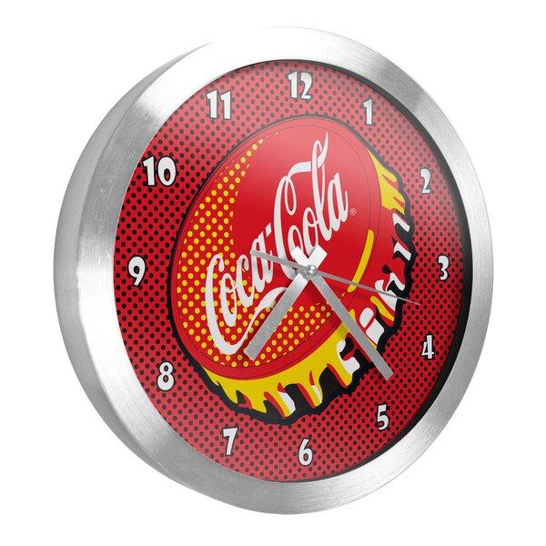 Coca Cola Pop Art Brushed Aluminum 12 Wall Clock by Trademark Global