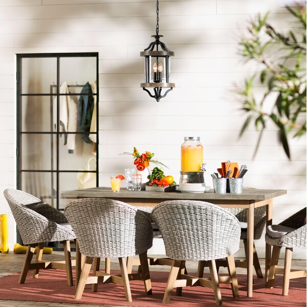Kayley 7 Piece Dining Set with Cushions by Mistana