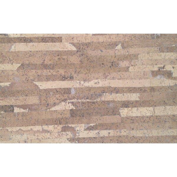 Plank 7 Cork Flooring in Laso Crème by APC Cork