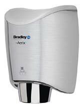 Surface-Mounted Sensor-Operated Hand Dryer with Cover in Stainless Steel by Bradley Corporation